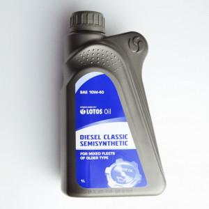 Масло моторное полусинтетическое LOTOS SAE 10W-40 Diesel (1L)